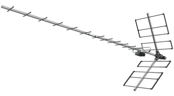Antena Yagi 1118 +10 Mts Cabo + Booster 40 + Mastro