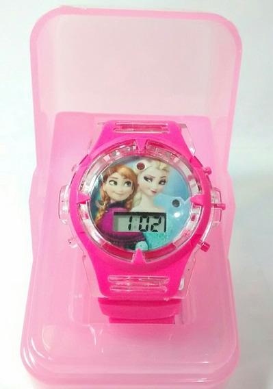 Relógio Infantil Kit Com 1 Frozen E 1 Homem Aranha Barato