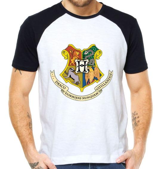 Camisetas Harry Potter Casas De Hogwarts Grifinoria Brasão