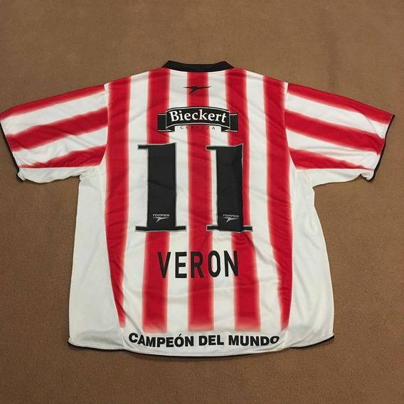 Camisa Estudiantes De La Plata Home 2006 - Veron - Topper
