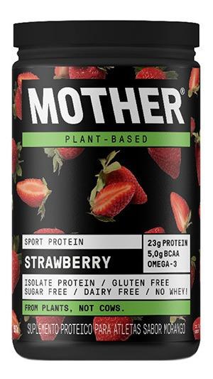 Suplemento Mother Nutrients Sport Protein Morango Pote 527 G