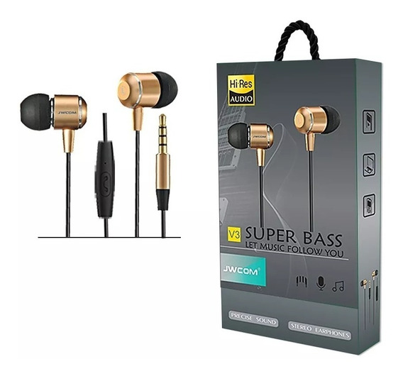 Fone De Ouvido Com Microfone In-ear Fo-v3 Super Bass
