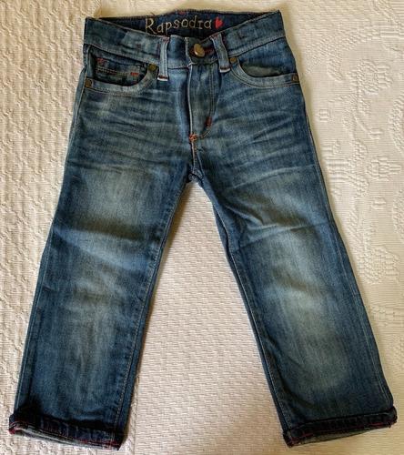 Pantalón Jean Niña T3-4 Rapsodia Corte Clásico