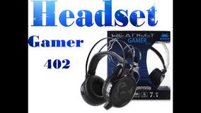 Fone De Ouvido Headset Gamer 7.1 Pc Led Com Microfone Kp-402