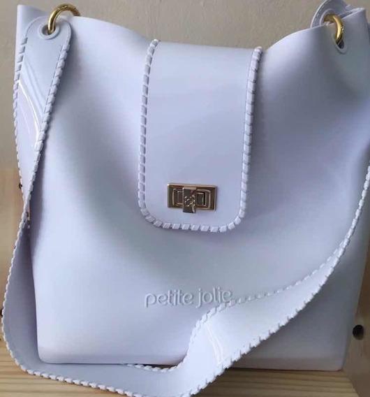 Cartera, Bolso, Petite Jolie, City Bag, Hebilla Blanca