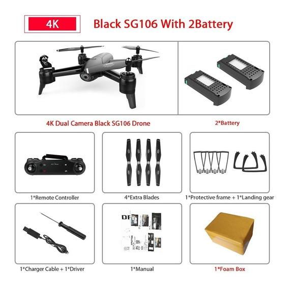 Drone Com Wi-fi 4k Hd Dual Camera Aérea De Fluxo Óptico