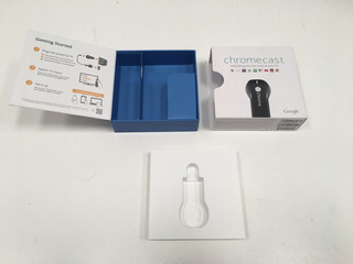 Caja Empaque Original Chromecast De Google 12x12x4 Cm