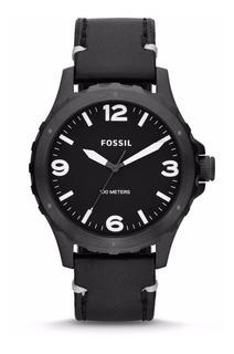 Reloj Fossil Hombre Cuero Agente Oficial Jr1448