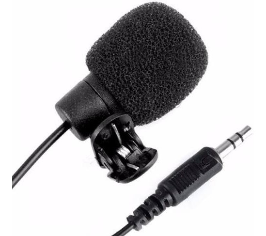 Microfone De Lapela 3,5mm Stéreo Profissional Pronta Entrega