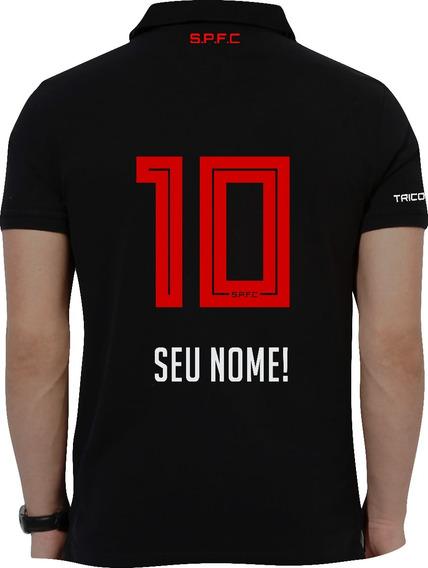 Camisa Polo Personalizada São Paulo Escolha Nome E Numero