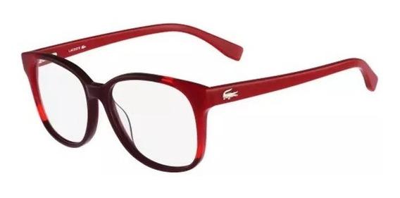 Armazón Lacoste L2738 Mujer Rojo Original