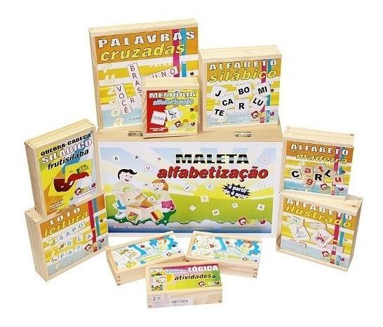 Maleta Alfabetização 10 Jogos Educativos Pedagógicos Carlu