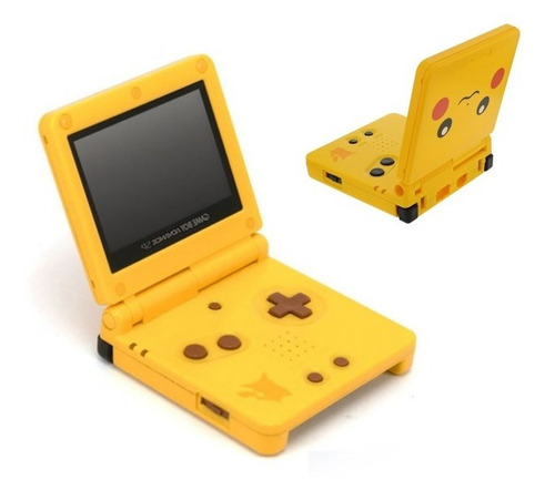 Carcasa Completa Nintendo Gba Sp Ed. Pikachu Gameboy Advance