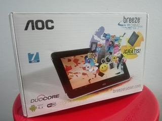 Tablet Aoc Breezer 7 Pulgadas, Nueva, ¡con Estuche De Cuero!