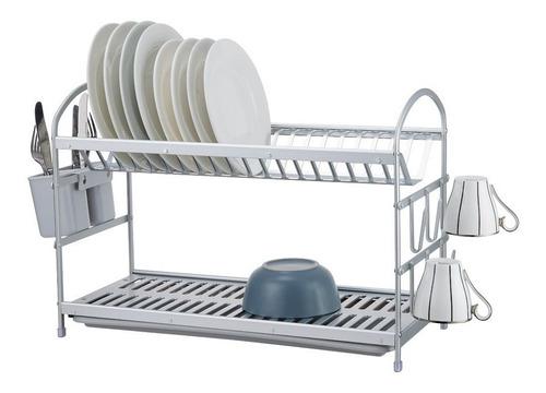 Escurridor Secaplatos Aluminio  Premium  2 P.  Sheshu Home