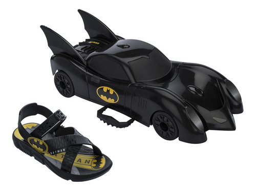 Sandalia Batman Batmovel Pro Inf Pt/pt-am