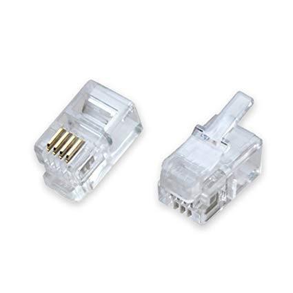 Conector Rj11 50pcs