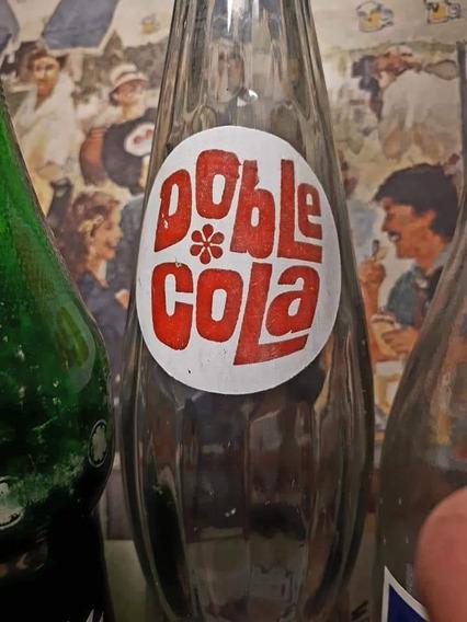 Antigua Botella De Colección Doble Cola De Pritty Sa