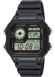 Reloj Hombre Casio Ae-1200wh-1av Negro Digital / Lhua Store