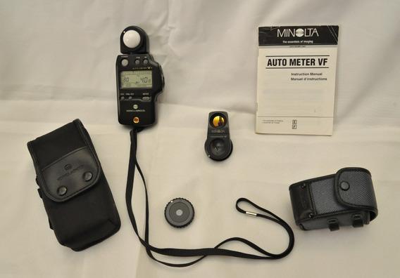 Fotômetro Konica Minolta Auto Meter Vf Com Acessórios