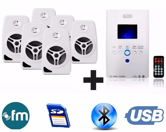 Som Ambiente Bluetooth+ 6 Caixa Branca Suporte Parede