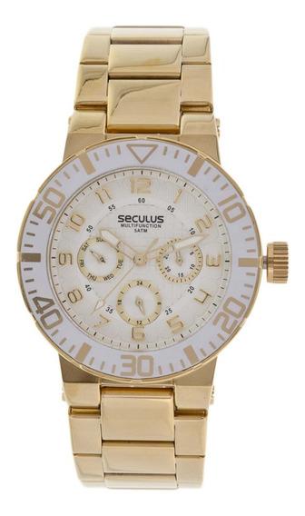 Relógio Feminino Seculus 28299lpsgds1 Dourado