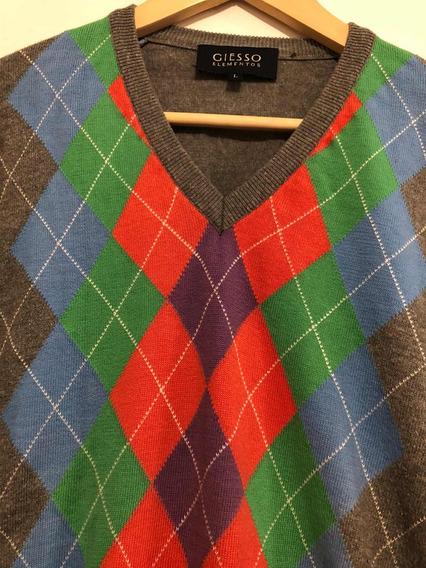 Sweater De Hombre Con Rombos Giesso , No Polo, No Dior