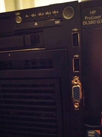 Servidor Hp Dl580 G7 4x Xeon 10cores 128gb Ram 4 Hd 300gb