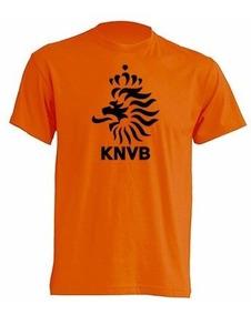 Camiseta Estampada Escudo Holanda Futbol