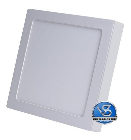 Kit 8 Plafon Sobrepor 25w Led Quadrado Painel Spot Luminari