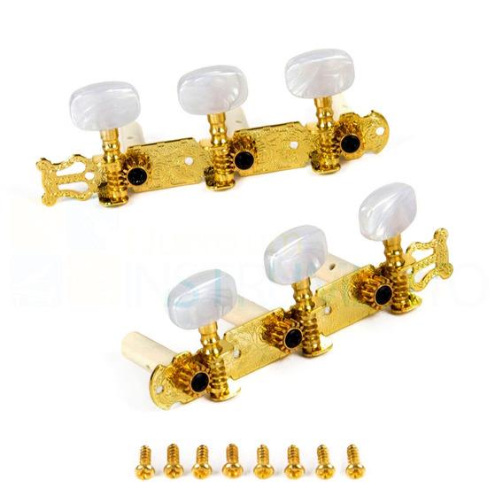 Tarraxa Para Violão Em Metal Alice Pino Grosso Dourada
