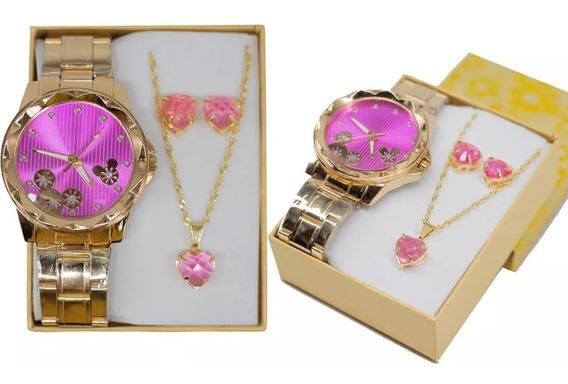 Relógio Feminino + Pulseira Promoção Para 10primeiras Vendas