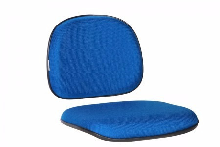 Conjunto Assento Encosto Cadeira Secretária Na Cor Azul