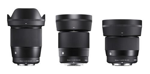 Lente Panasonic Olympus Blackmagic 16mm, 30mm, 56mm F / 1.4