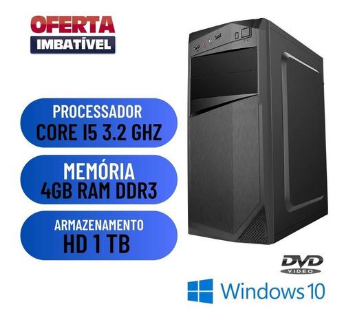 Imagem 1 de 2 de Computador Pc Desktop Cpu I5 4gb Hd 1tb Win10 - Gravador Dvd