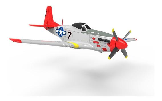 Avión Radiocontrol Rc 4 Ch Completo P-51 Estabilizador Gyro