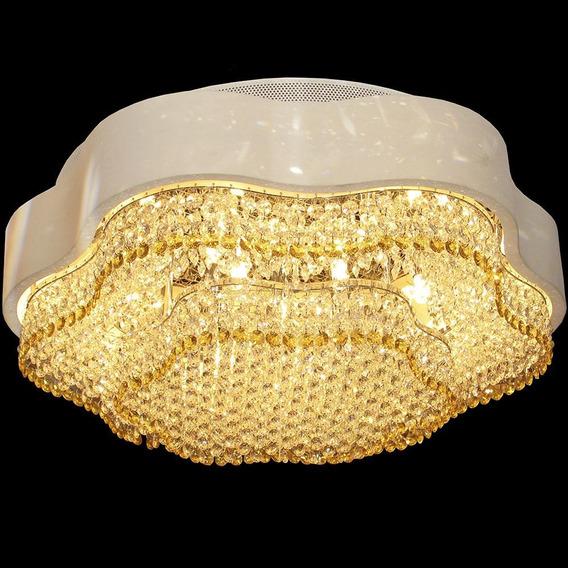 Lustre Moderno Dourado C/ Pingentes