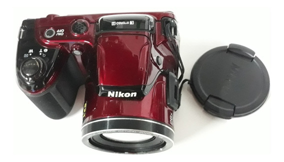 Câmera Nikon L810 Red Não Liga Sem Tampa Da Pilha.