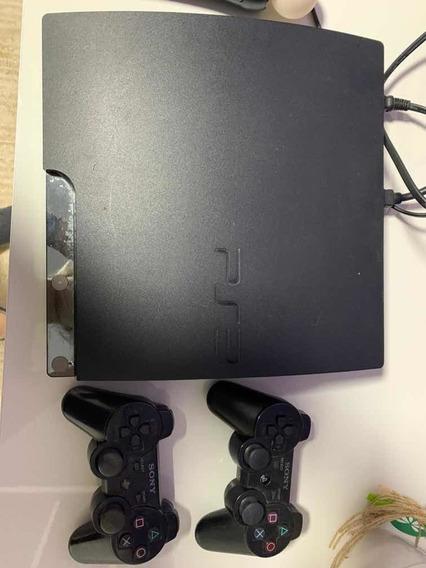 Playstation 3 Preto 300gb, Dois Controles,6jogos, Movemotion