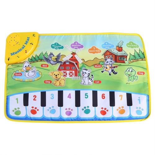 Tapete De Música Bebê Crianças Rastejando Piano Tapete Ed