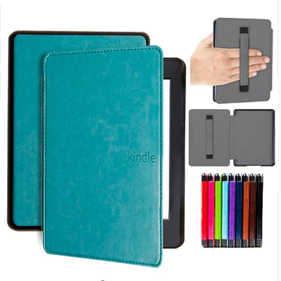 Capa Case Novo Kindle Paperwhite (10ªg) Com Alça P/ Mão-azul