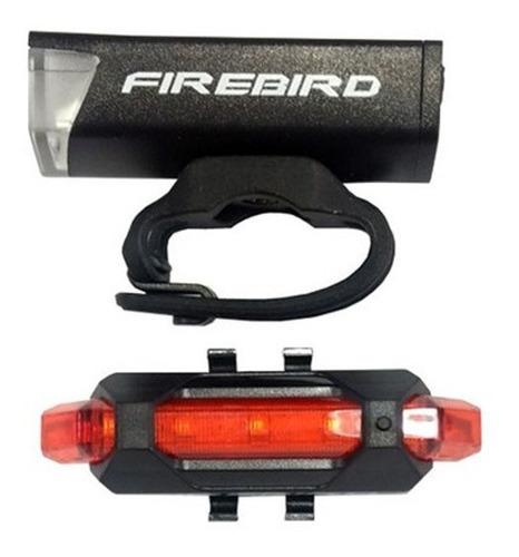 Luz Destellador Kit Para Bici Fire Bird Recargable Usb