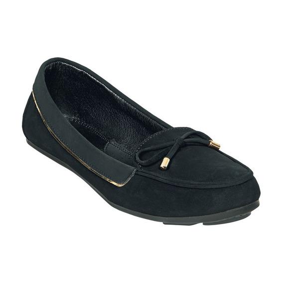 Zapatos Tipo Gamuza Color Negro Para Dama 23 Al 26. 024dg2