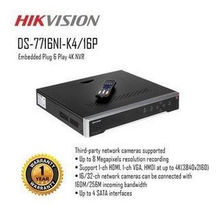 Nvr 16 Portas 4k Uhd Hikvision Ds-7716ni-k4 + Nf + Original