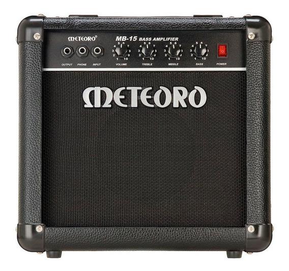 Amplificador Cubo Meteoro Mb15 15w Rms Para Contra Baixo