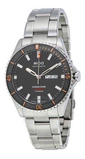 Relógio Automático Mido Ocean Star Cinza Titânio Diver