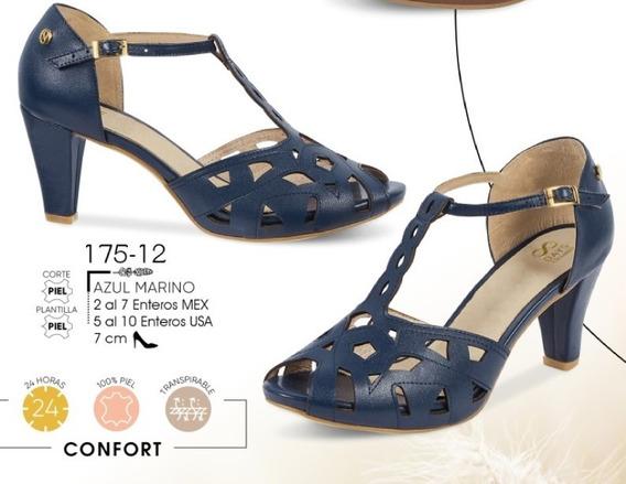 Zapato Dama Azul Marino Mod. 175-12 Oi 2019