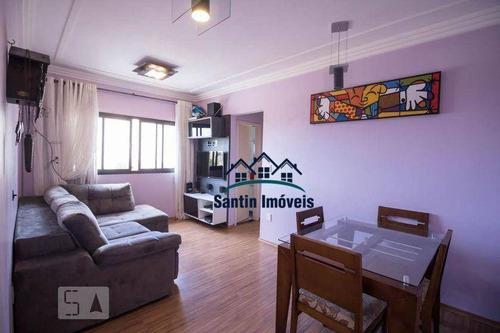 Apartamento Com 2 Quartos, Cozinha Planejada, Lazer E Vaga Coberta  À Venda, 66 M² Por R$ 310.000 - Campestre - Santo André/sp - Ap2002