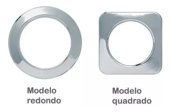 Pacote C/ 100 Ilhós Cromado Quadrado Ou Redondo Para Cortina