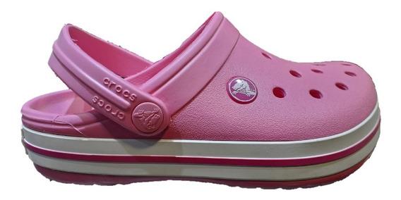 Sandalias De Niño Crocs Crocband Pink C44